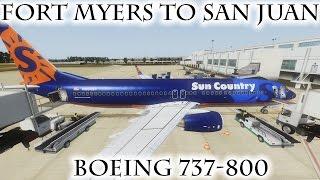 FSX | Fort Myers (KRSW) to San Juan (TJSJ) | 737-800