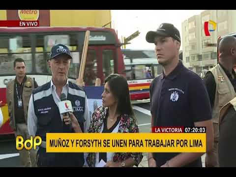 La Victoria: Muñoz y Forsyth inauguran obras de rehabilitación en av. Manco Cápac