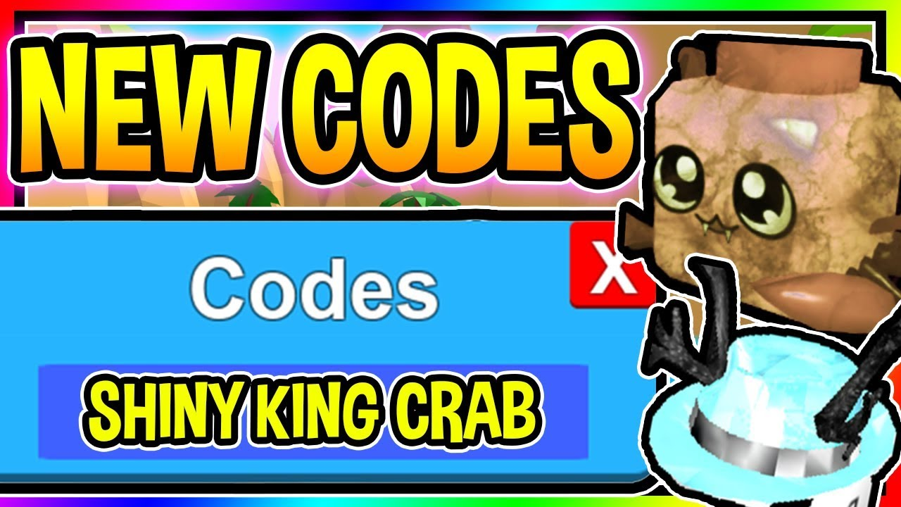 ALL 7 NEW BUBBLE GUM SIMULATOR CODES - New Shiny King Crab/ Update 21 Roblox