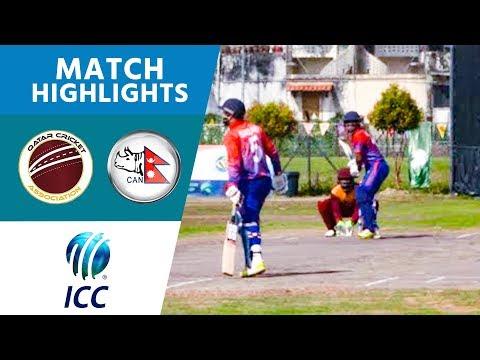 Qatar v Nepal - Match Highlights | ICC T20 World Cup Asia Qualifiers | ICC