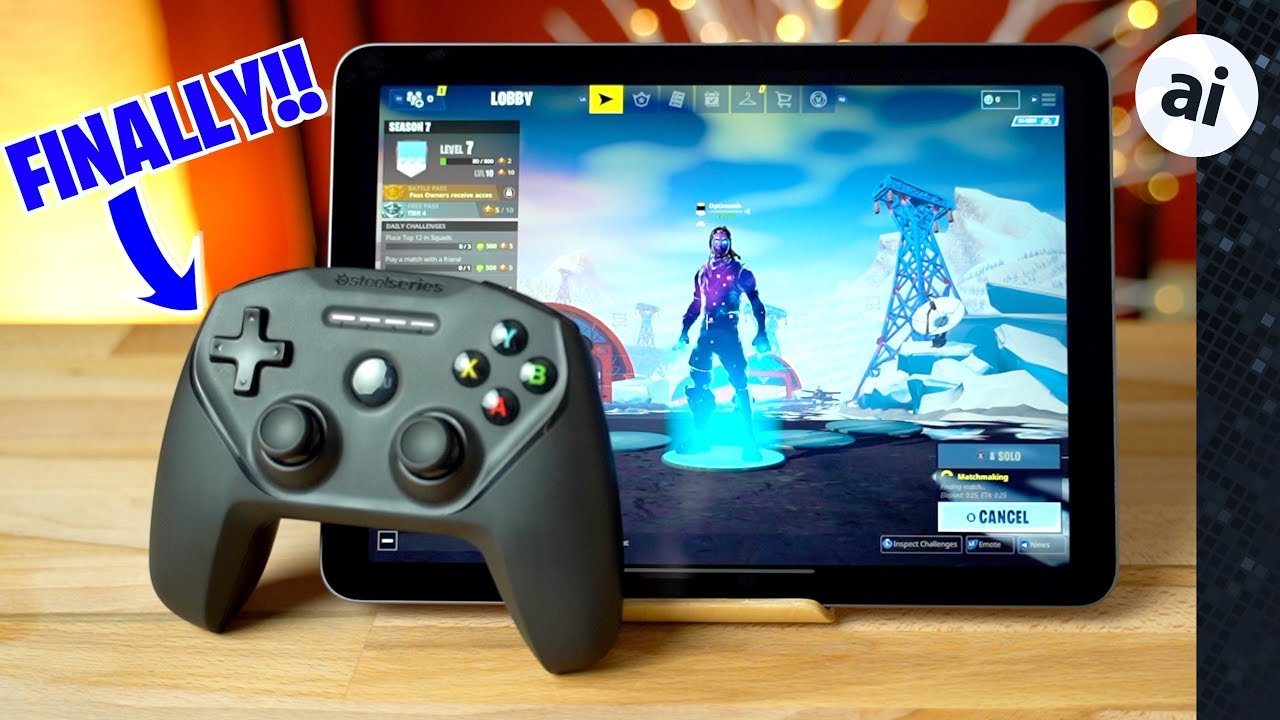 fortnite with controller on ipad pro iphone xr is epic - steelseries nimbus fortnite controls
