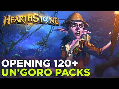 Watch us open an awful lot of Hearthstone: Journey to Un'Goro packs
