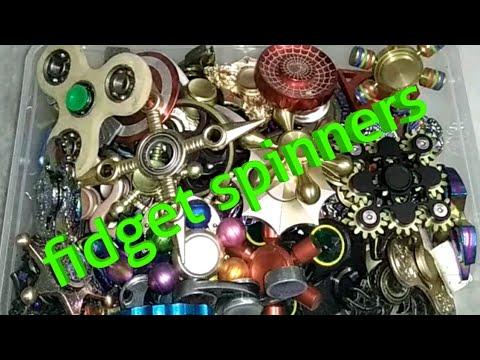 Fidget toy collection part 3    metal fidget spinners