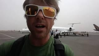 Bye bye Yemen flying home.