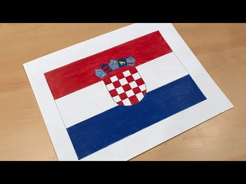 Croatian Flag Drawing 🇭🇷