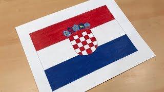 Croatian Flag Drawing 🇭🇷