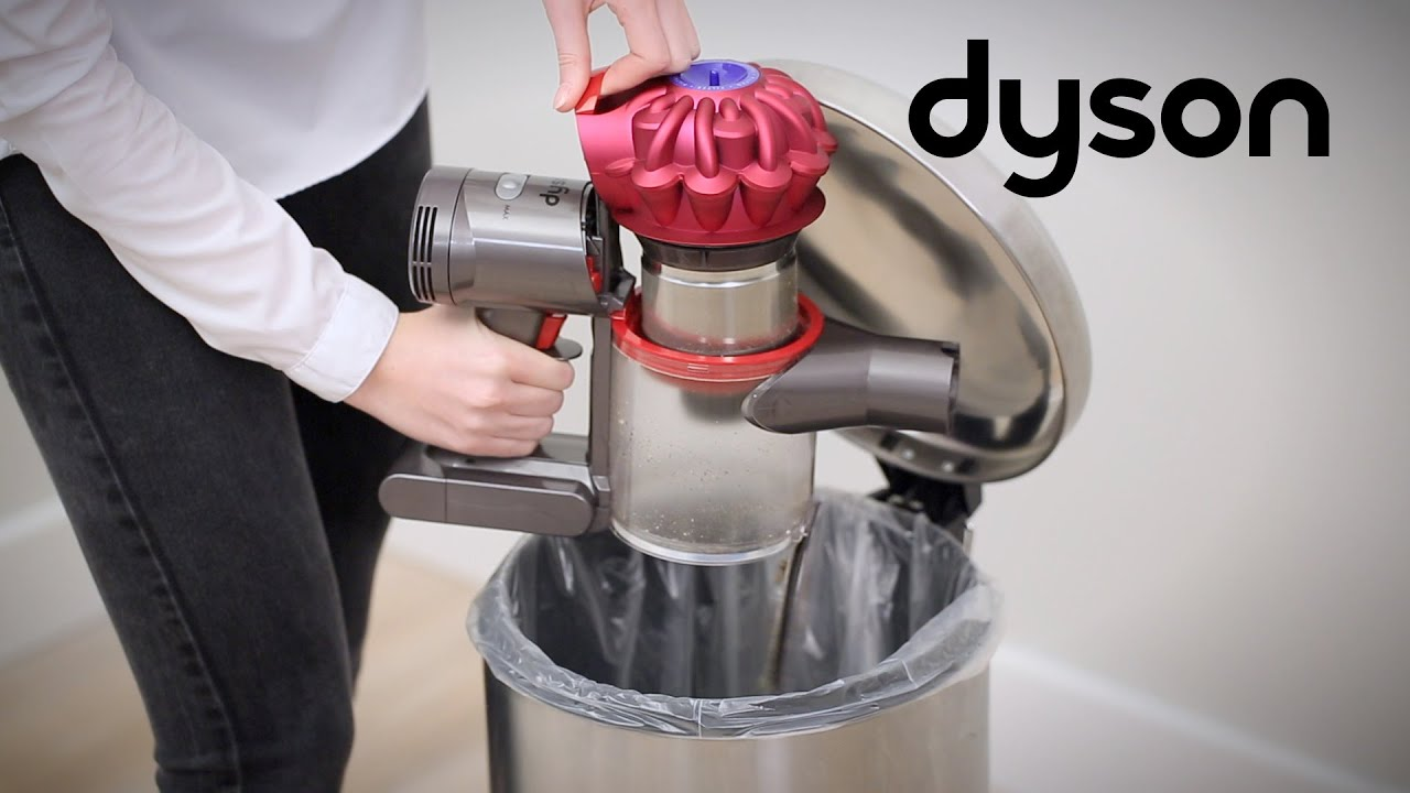 dyson cyclone v10 cord free vacuums emptying and cleaning. Black Bedroom Furniture Sets. Home Design Ideas