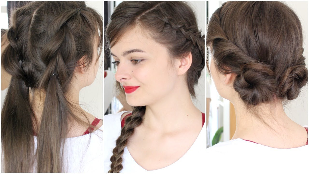 3 no heat hot weather hairstyles - youtube