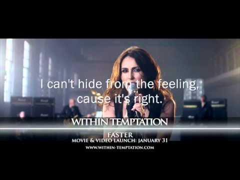 Within Temptation - Faster Karaoke+Lyrics HQ (2011)