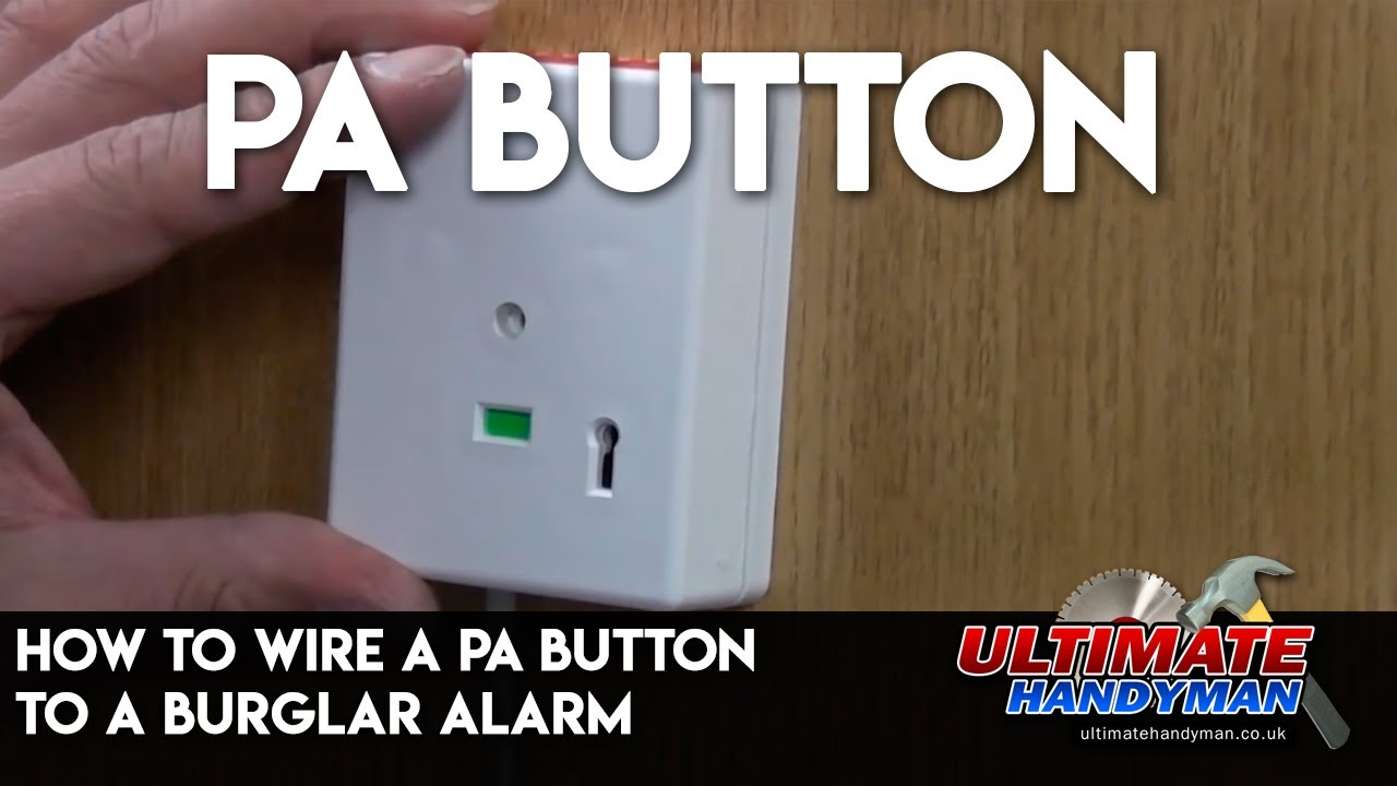how to wire a pa button to a burglar alarm youtube rh youtube com Panic Button Alarm Tools burglar alarm panic button wiring