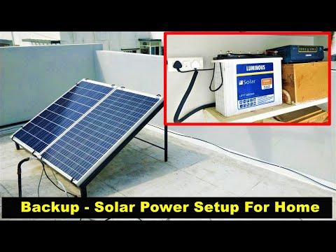 Solar Power Backup for Home - 2020 - Complete Setup Details