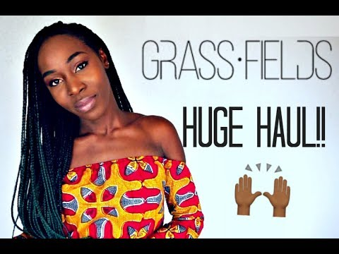 HUGE GRASS-FIELDS AFRICAN ANKARA CLOTHING TRY-ON HAUL!
