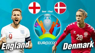 PES 2021   อังกฤษ VS เดนมาร์ก   ยูโร 2020 รอบรองชนะเลิศ !! มันส์ ๆ ก่อนจริง