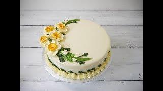 easy to make buttercream flower- narcissus flower  ( eng /viet sub)