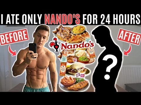 I ate nothing but NANDO'S for 24 HOURS and this is what happened...