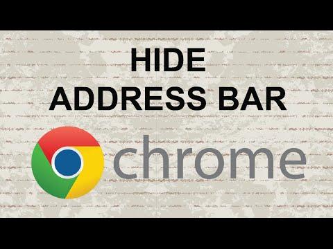 Chrome hide address bar (UPDATE)