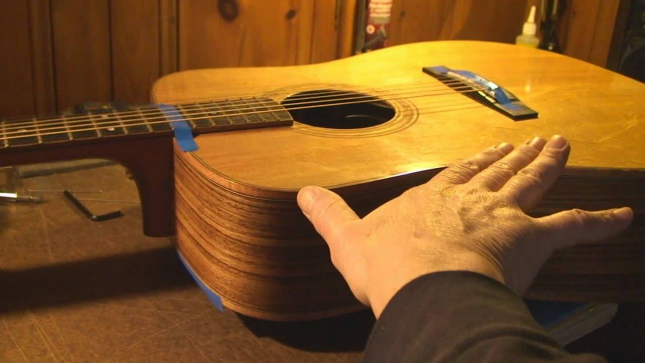 acoustic guitar neck reset part 1 youtube