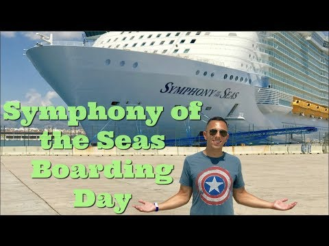 BOARDING THE SYMPHONY OF THE SEAS CRUISE SHIP