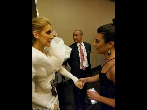 Lea Michele CRIES when meeting idol Celine Dion backstage at Billboard Awards...
