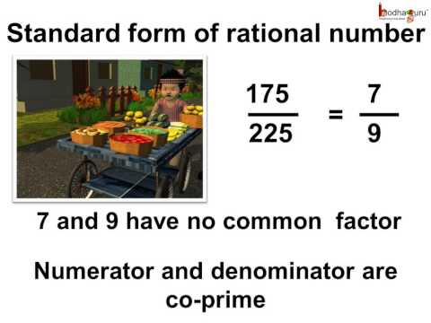 Maths What Is The Standard Form Of Rational Number English Aka