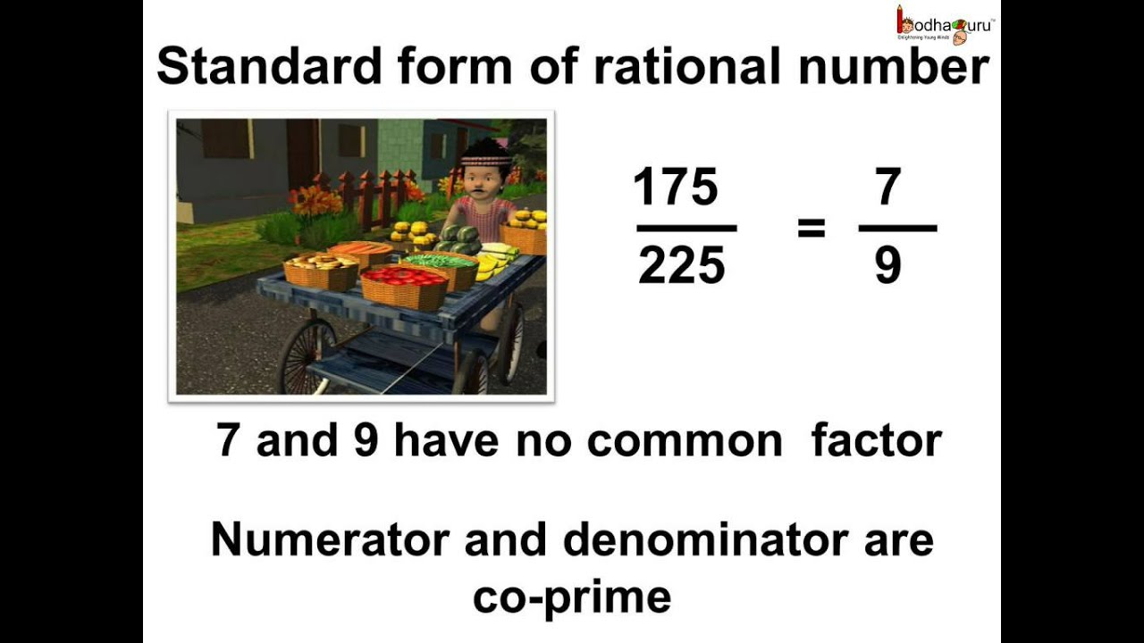standard form kya hota hai  Maths -What is the standard form of rational number - English
