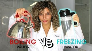 FREEZING COLD WATER WASH VS BOILING HOT WATER | TESTING COLD SHOWER BENEFITS FOR HEALTHY HAIR