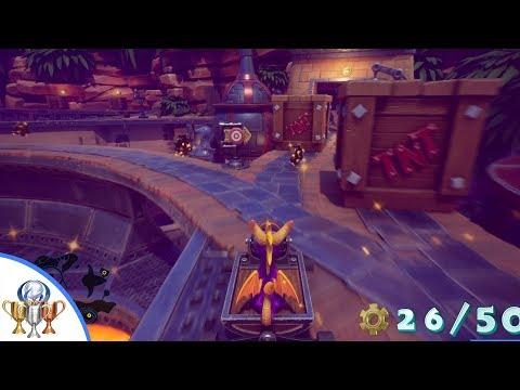 Spyro 2 Ripto's Rage - Trouble No More - Breeze Harbor Trolley Gear Orb Challenge