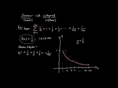 Integraler del 11 - approximation av summa