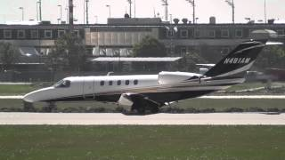 double takeoff of this cj4 at munich airport