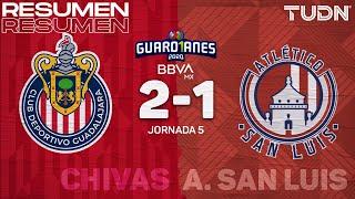 Resumen y goles | Chivas 2-1 San Luis | Guard1anes 2020 Liga BBVA MX - J5 | TUDN