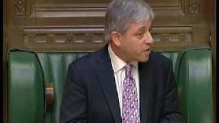 John Bercow the new speaker a tory not liked by the tories