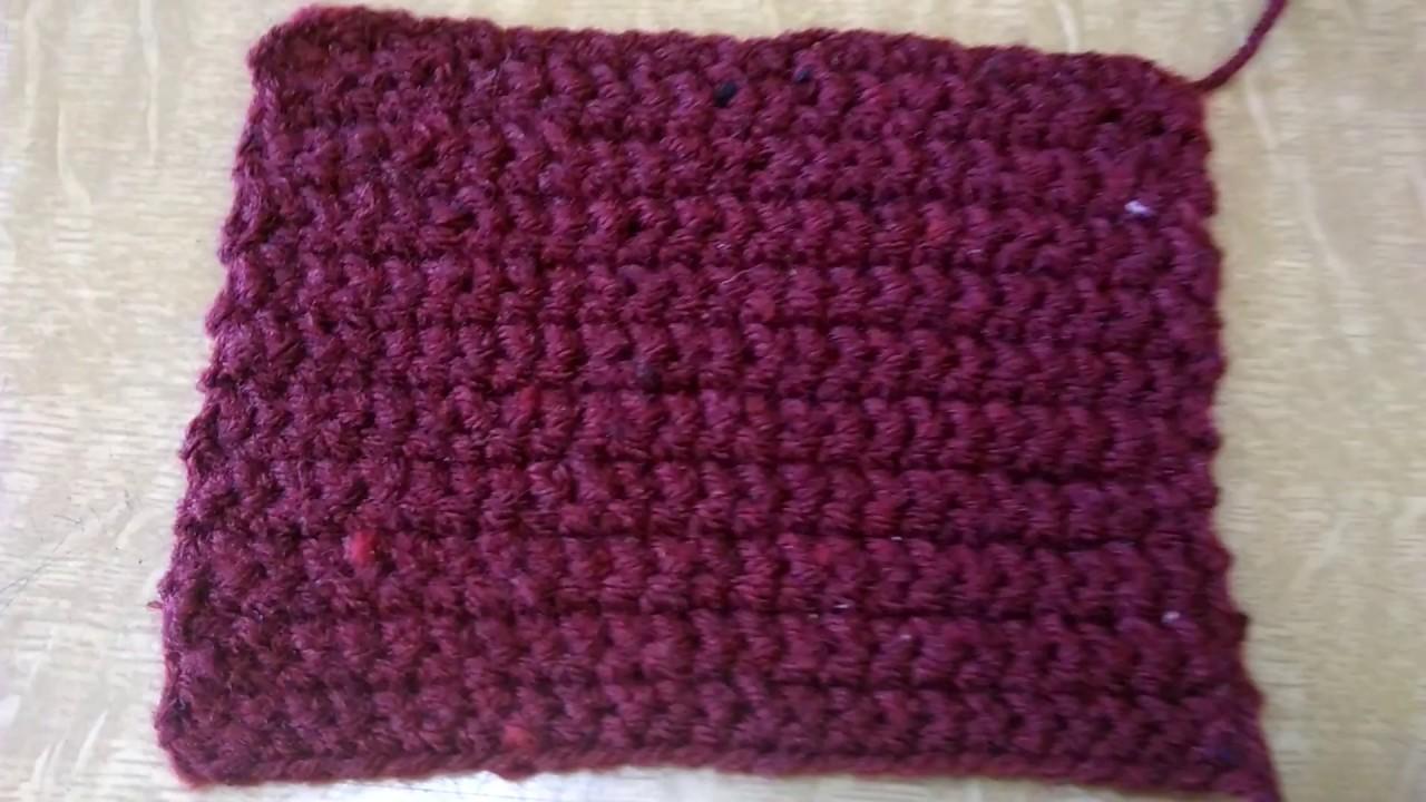 Basic Single Crochet Patternin Marathi