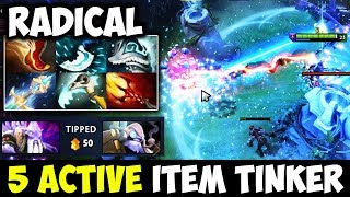 WTF 5 Active Items Looks So Easy For Him - Radical Tinker With Crazy Fap Hand Dota 2
