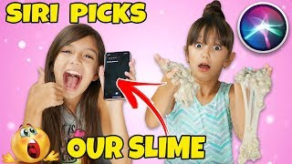 SIRI Picks Our Slime Ingredients Challenge!