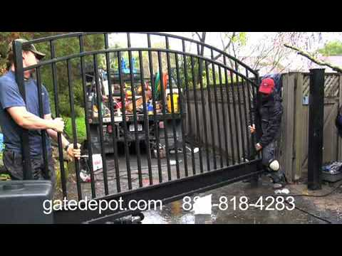Automatic Driveway Gate Opener Installation Youtube