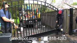 Automatic Driveway Gate Opener Installation