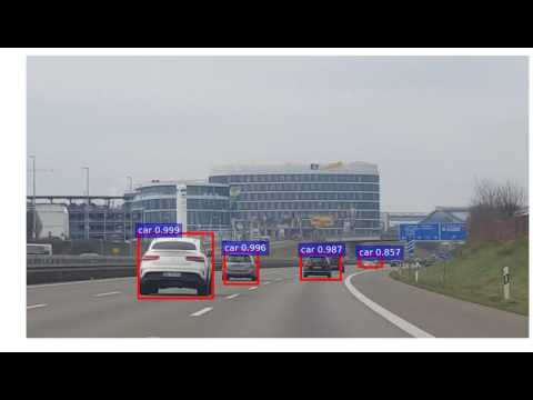 AI Object Detection of Autobahn A8 near Stuttgart, Germany 11 Dec 2016