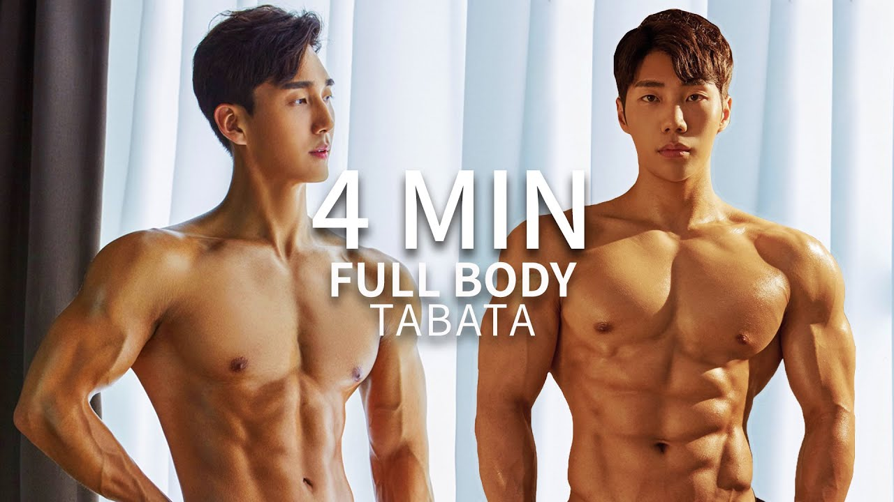 4 MIN FULL BODY TABATA for FAT-BURNING  |  4분 전신 타바타 운동 (8K VIDEO)