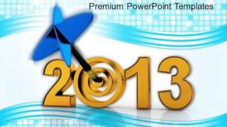 target achievement in year 2013 powerpoint templates ppt backgrounds for slides 0413 presentation in