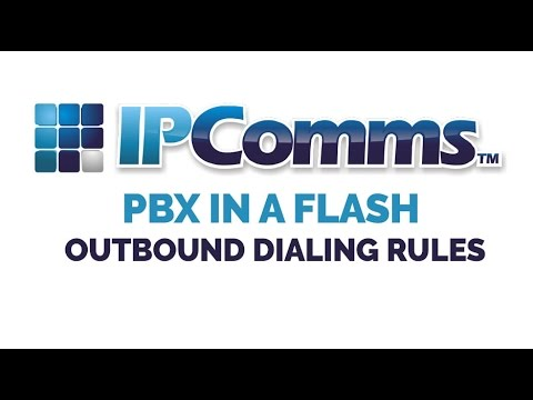 How to configure a Outbound Dialing Plan inside PBX in a Flash