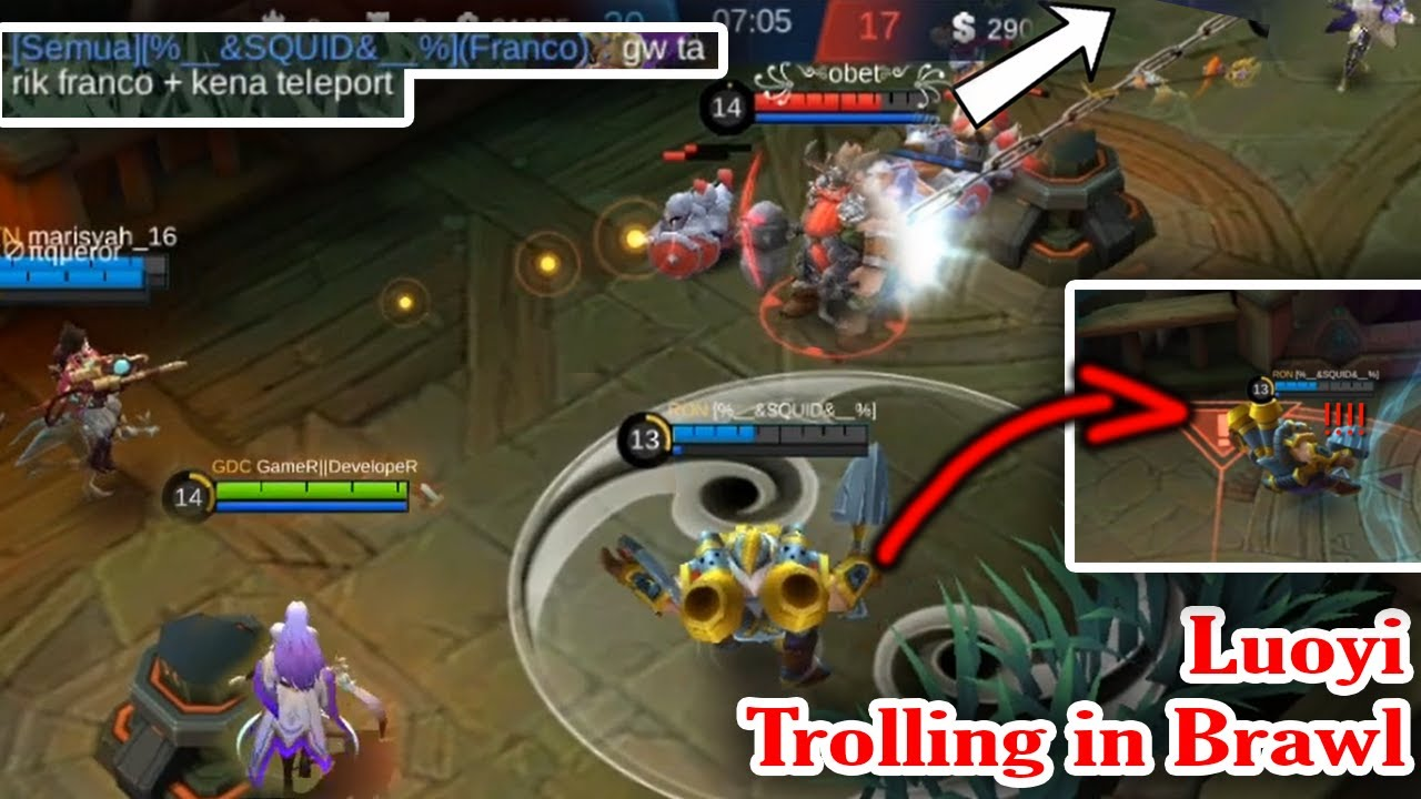 Trolling in Brawl haha | Funny Gameplay Mobile Legends