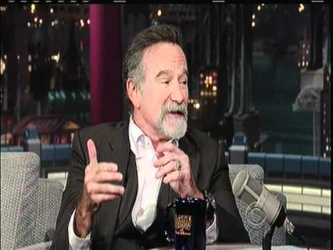 ROBIN WILLIAMS (part1) on late show with david letterman 4/26/12 part 1
