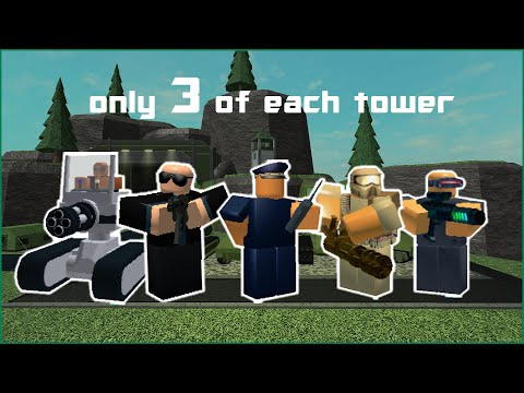Tower Battles but I can only use 3 of Each Tower Roblox