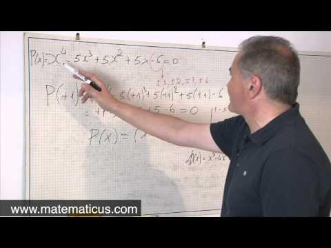 Risoluzione di un'equazione di grado superiore al secondo