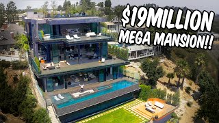 $19MILLION HILLSIDE MANSION WITH EPIC LAKE VIEW!