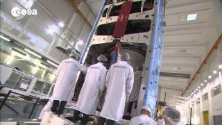 Large telecom satellite about to launch over Europe