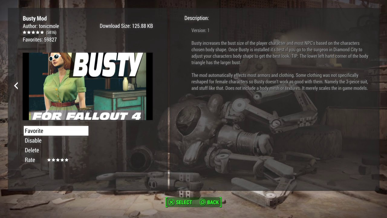Fallout 4 PS4 sexy mods 2018