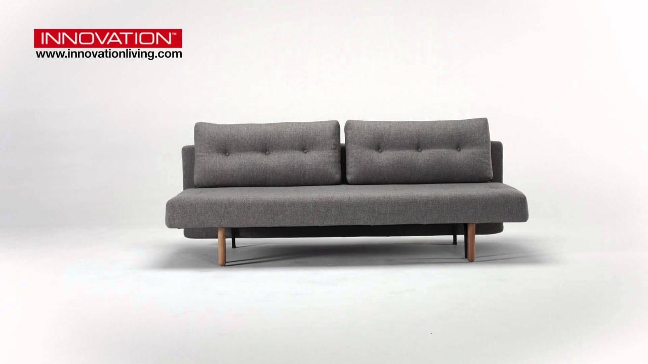 innovation rhomb schlafsofa mit holzf ssen youtube. Black Bedroom Furniture Sets. Home Design Ideas