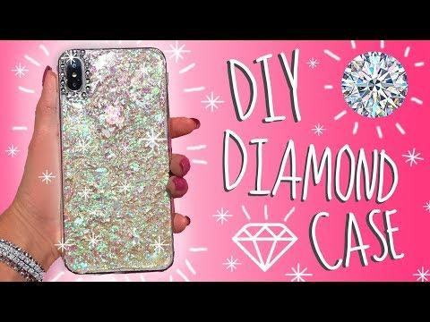 DIY Phone Case Sparkling Diamond Inspired Ideas