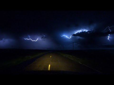 """""""Drive Under the Moon"""" By Pecos Hank - with Lightning storm footage"""